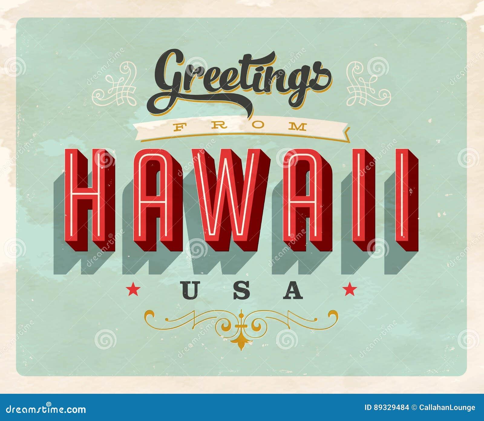 Vintage greetings from hawaii vacation card stock vector vintage greetings from hawaii vacation card kristyandbryce Choice Image