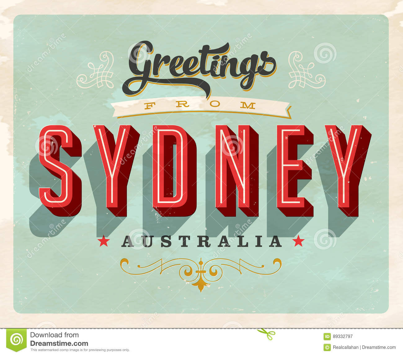 Vintage greetings from sydney australia vacation card stock vector download vintage greetings from sydney australia vacation card stock vector illustration of message m4hsunfo