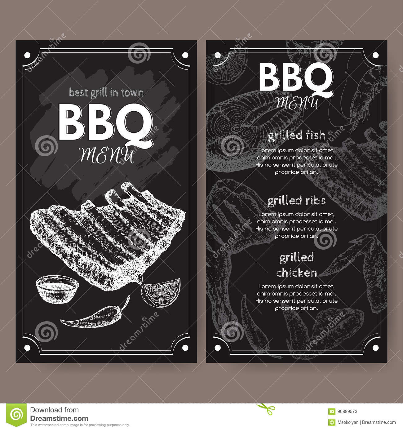 Vintage grill restaurant menu template with hand drawn sketch stock download vintage grill restaurant menu template with hand drawn sketch stock vector illustration of gourmet maxwellsz