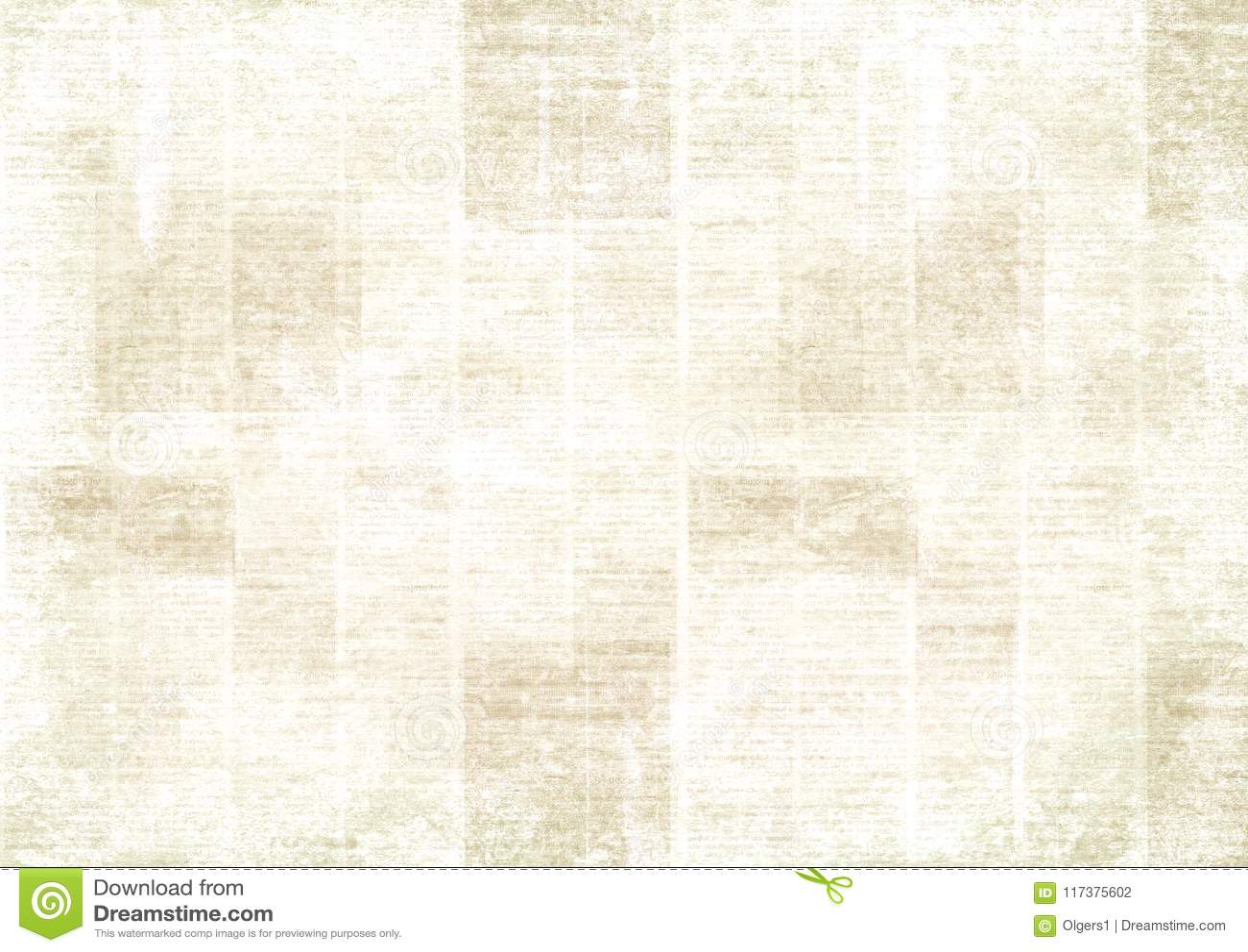 Vintage Grunge Newspaper Collage Background Stock Photo