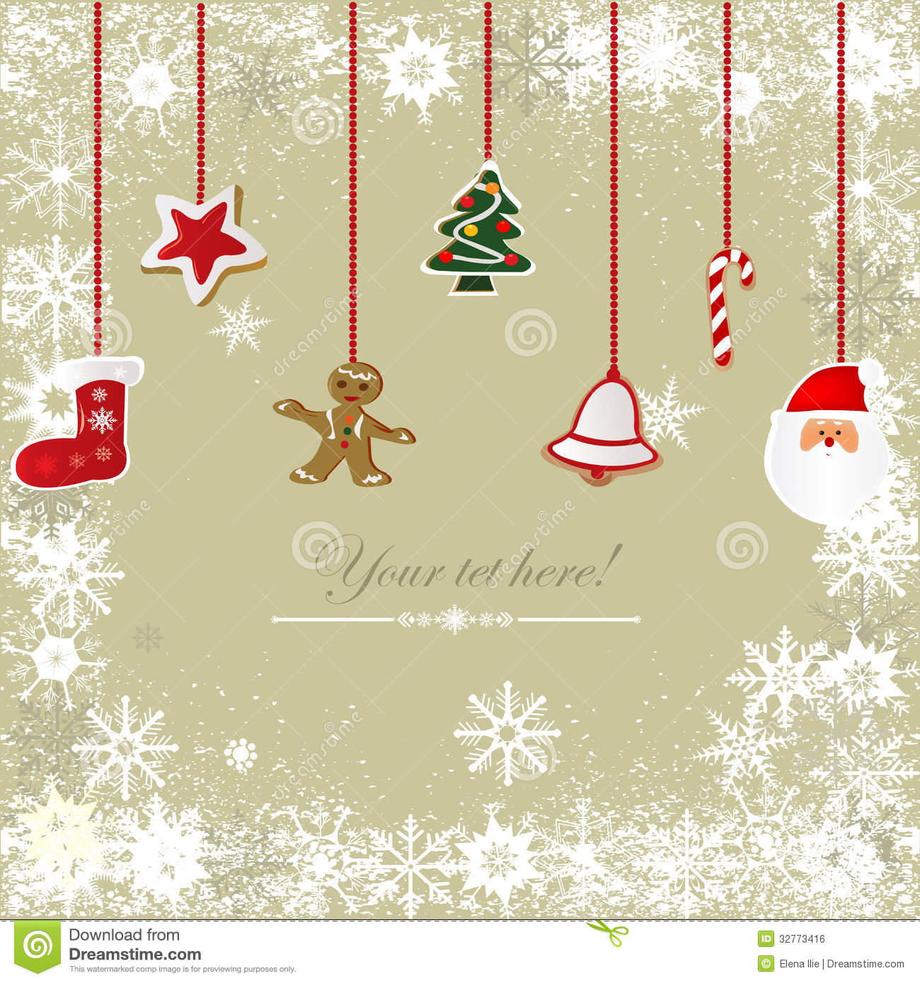 Vintage, Grungy Christmas Background Royalty Free Stock
