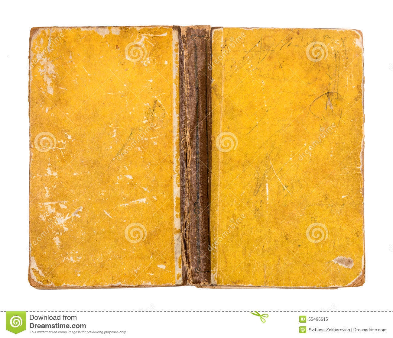 Book With Black And Yellow Cover : Vintage grungy yellow book cover stock image of