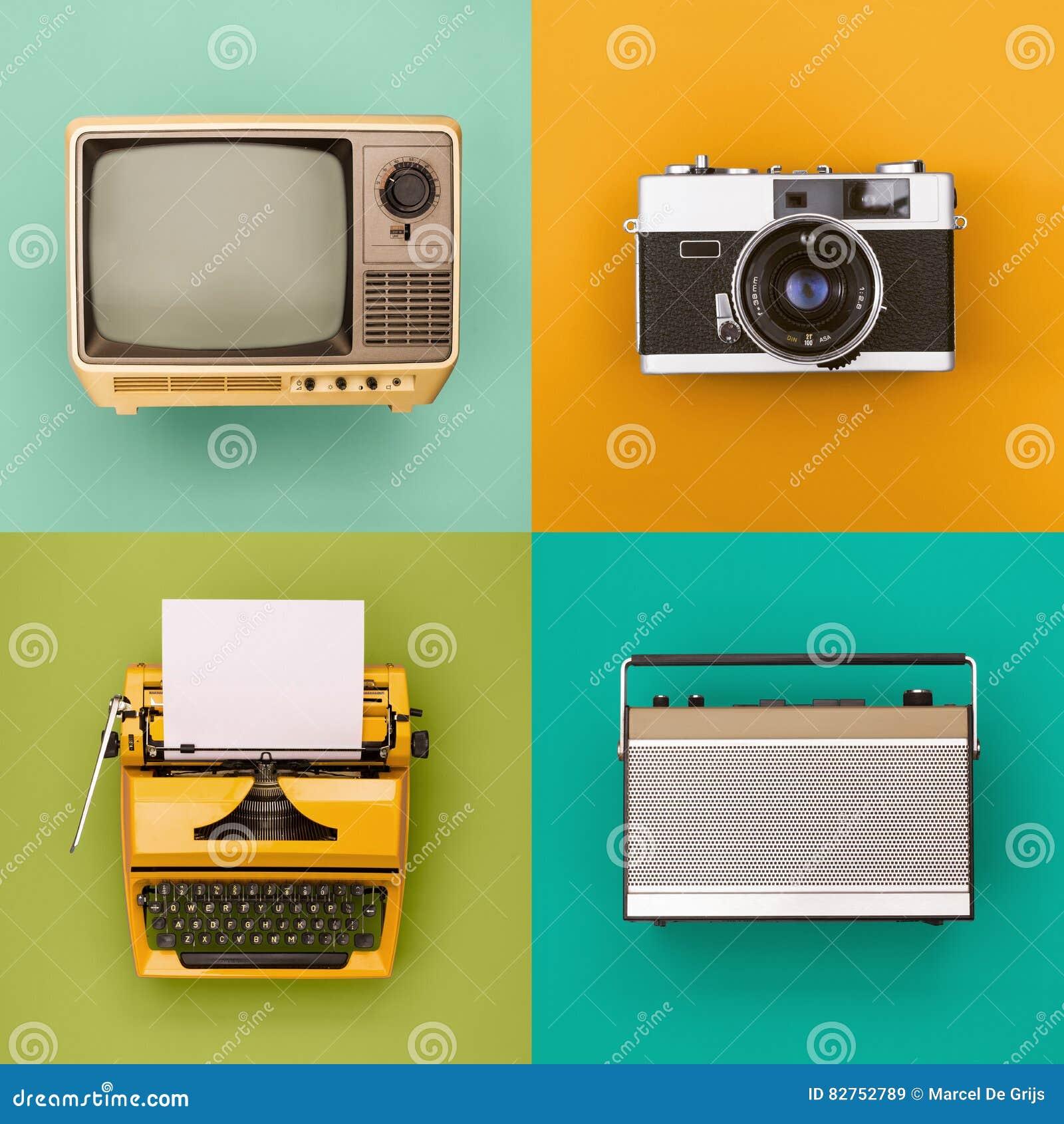 Vintage/grupo retro da eletrônica