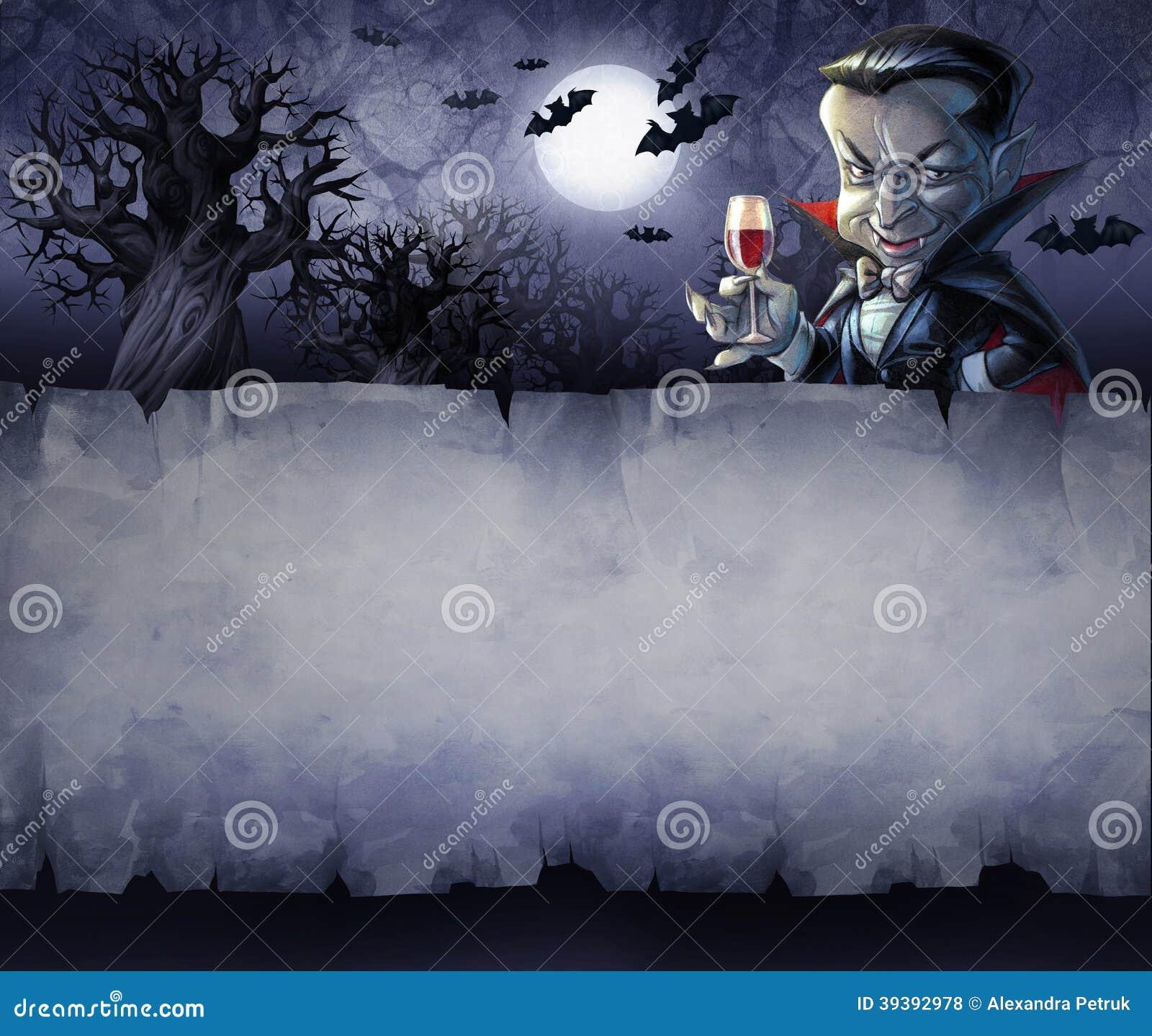 vintage halloween background stock illustration