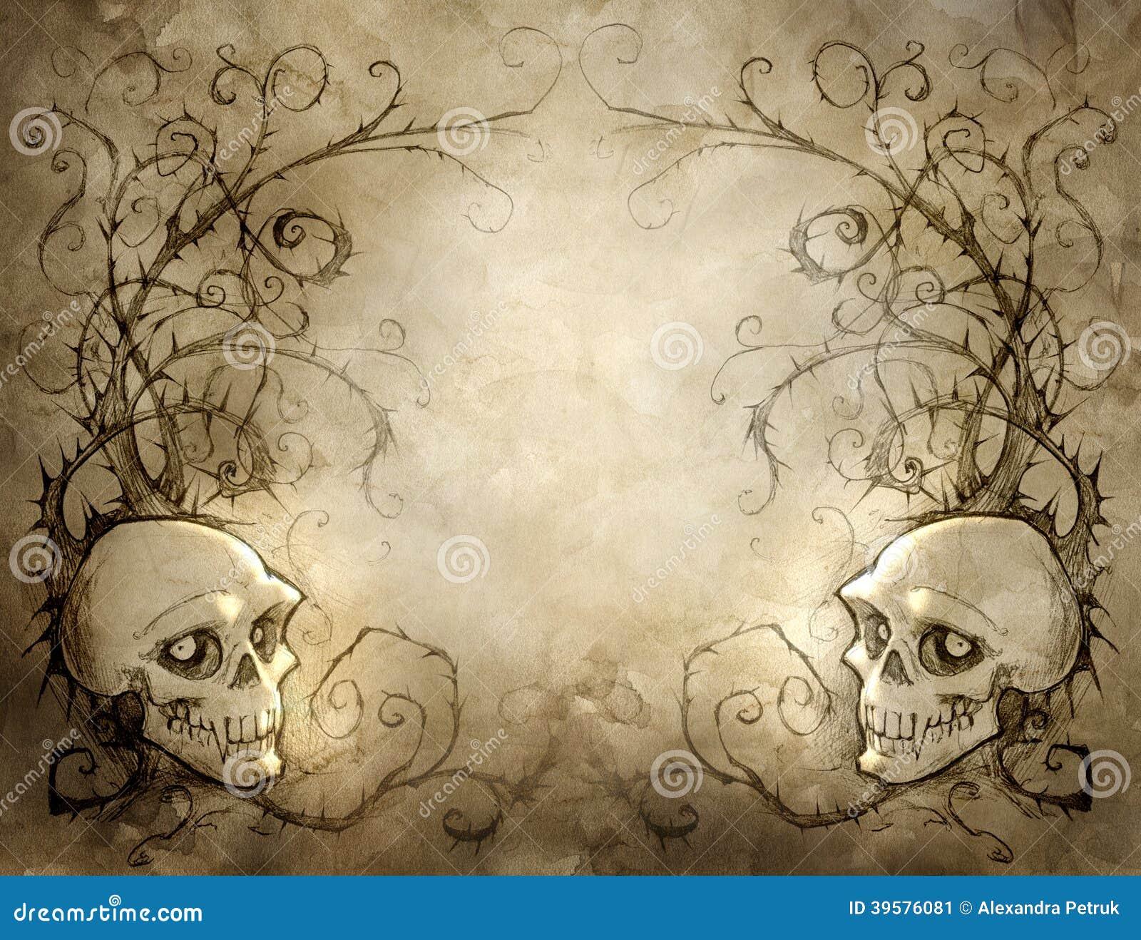 vintage halloween background stock illustration illustration of cover  dead 39576081 halloween signage vector Halloween Silhouette