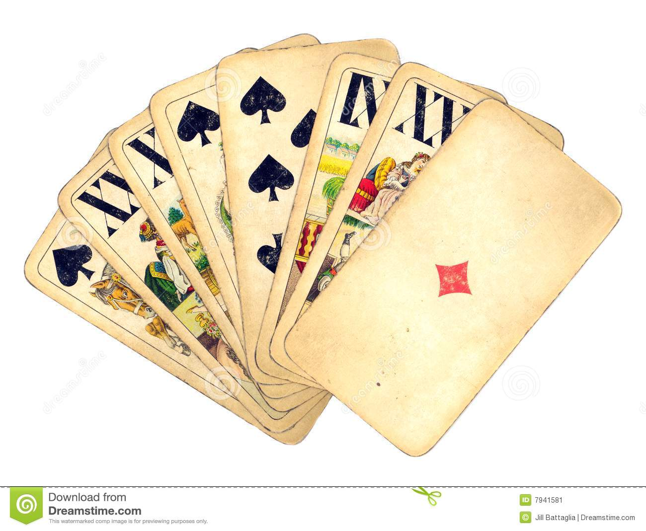 Vintage Hand Of Cards Stock Image Image 7941581