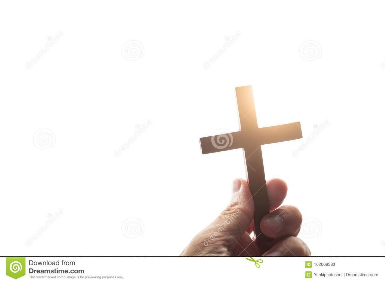 Vintage hand of a Christian man