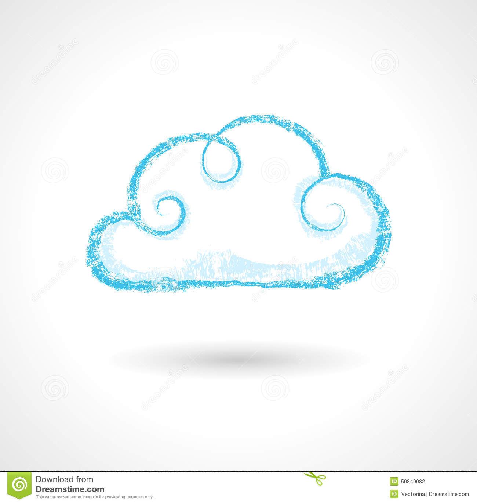 Vintage hand drawn cloud symbol stock vector illustration of vintage hand drawn cloud symbol biocorpaavc Gallery