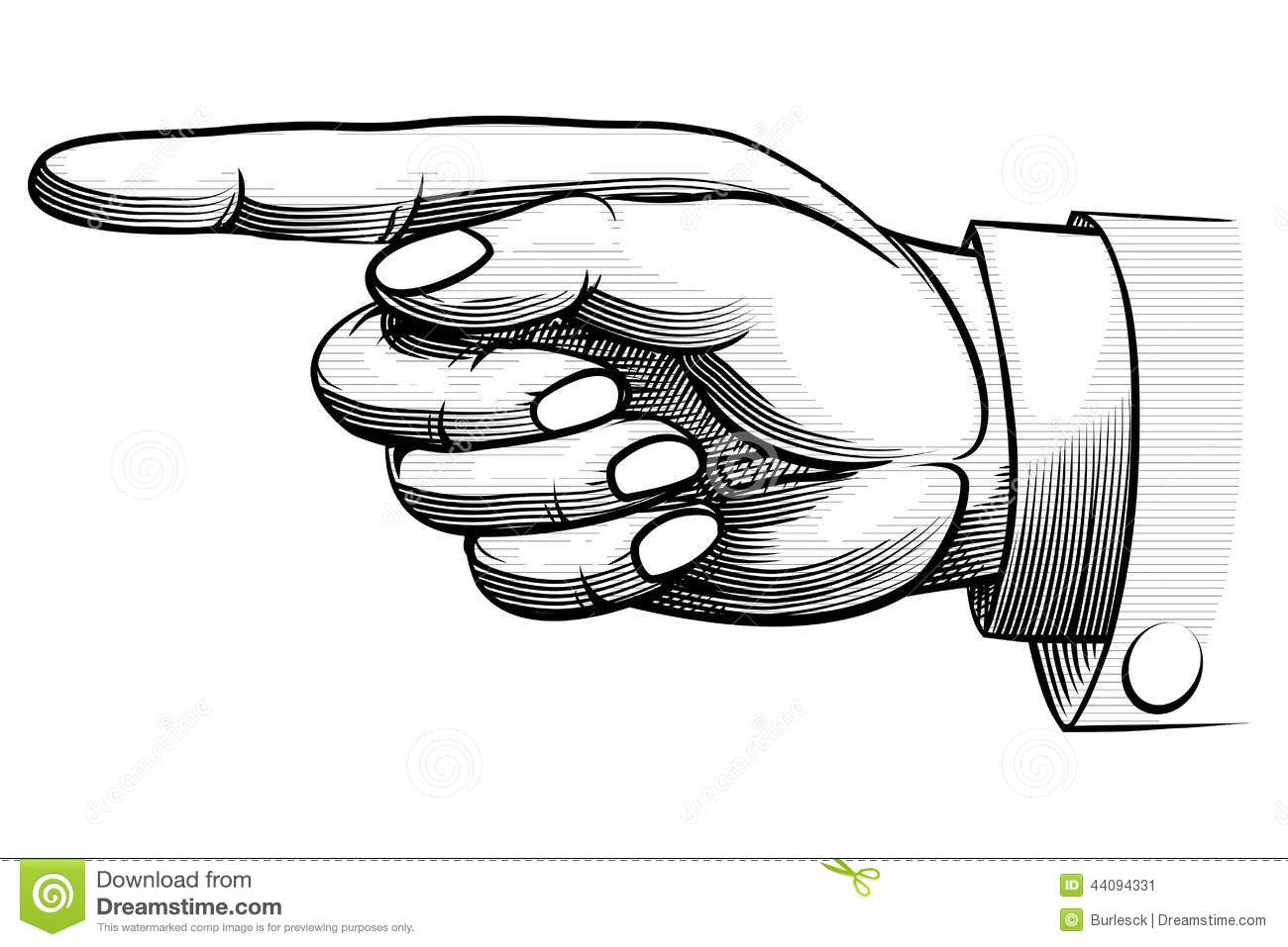 how to draw a pointing finger