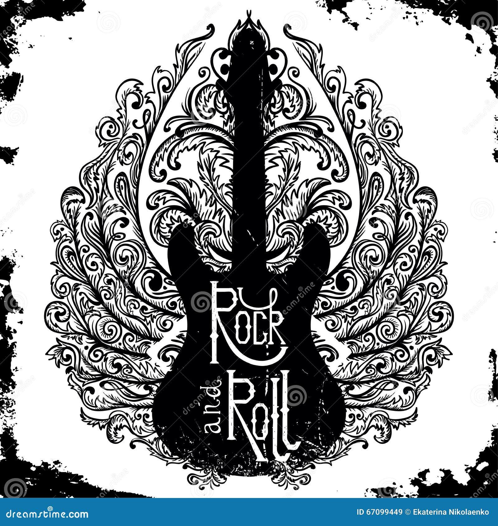 Poster rock roll vintage