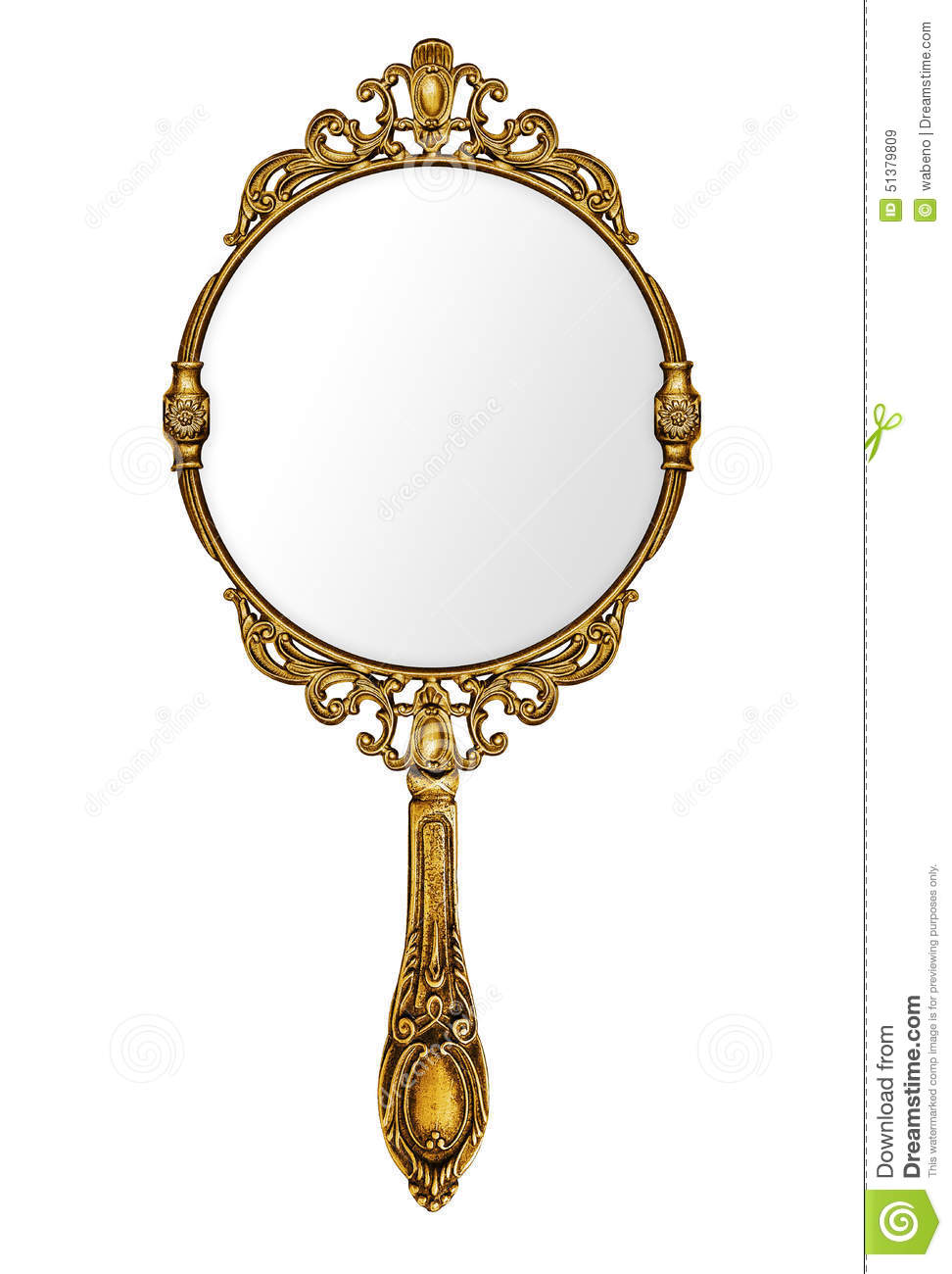 Vintage Hand Mirror Stock Image Image Of Mysterious