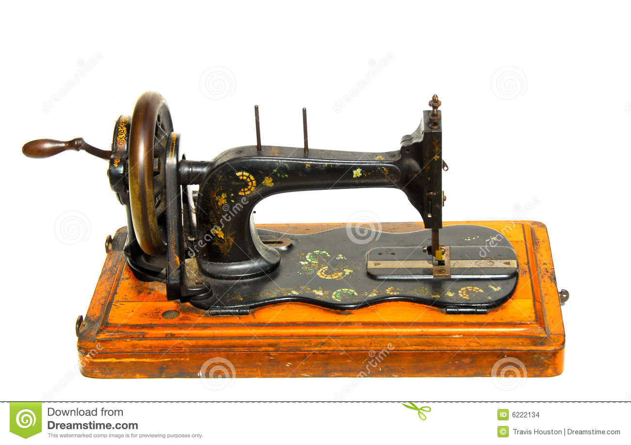 vintage hand painted sewing machine stock photo image of quilt isolated 6222134. Black Bedroom Furniture Sets. Home Design Ideas