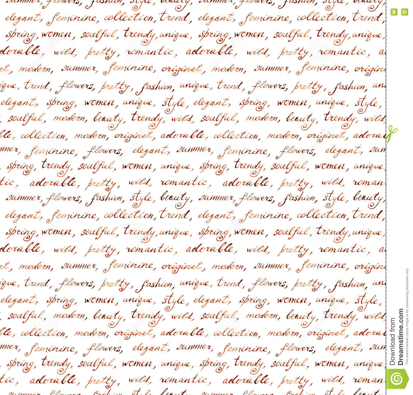 Vintage Hand Written Letter - Seamless Text  Repeating