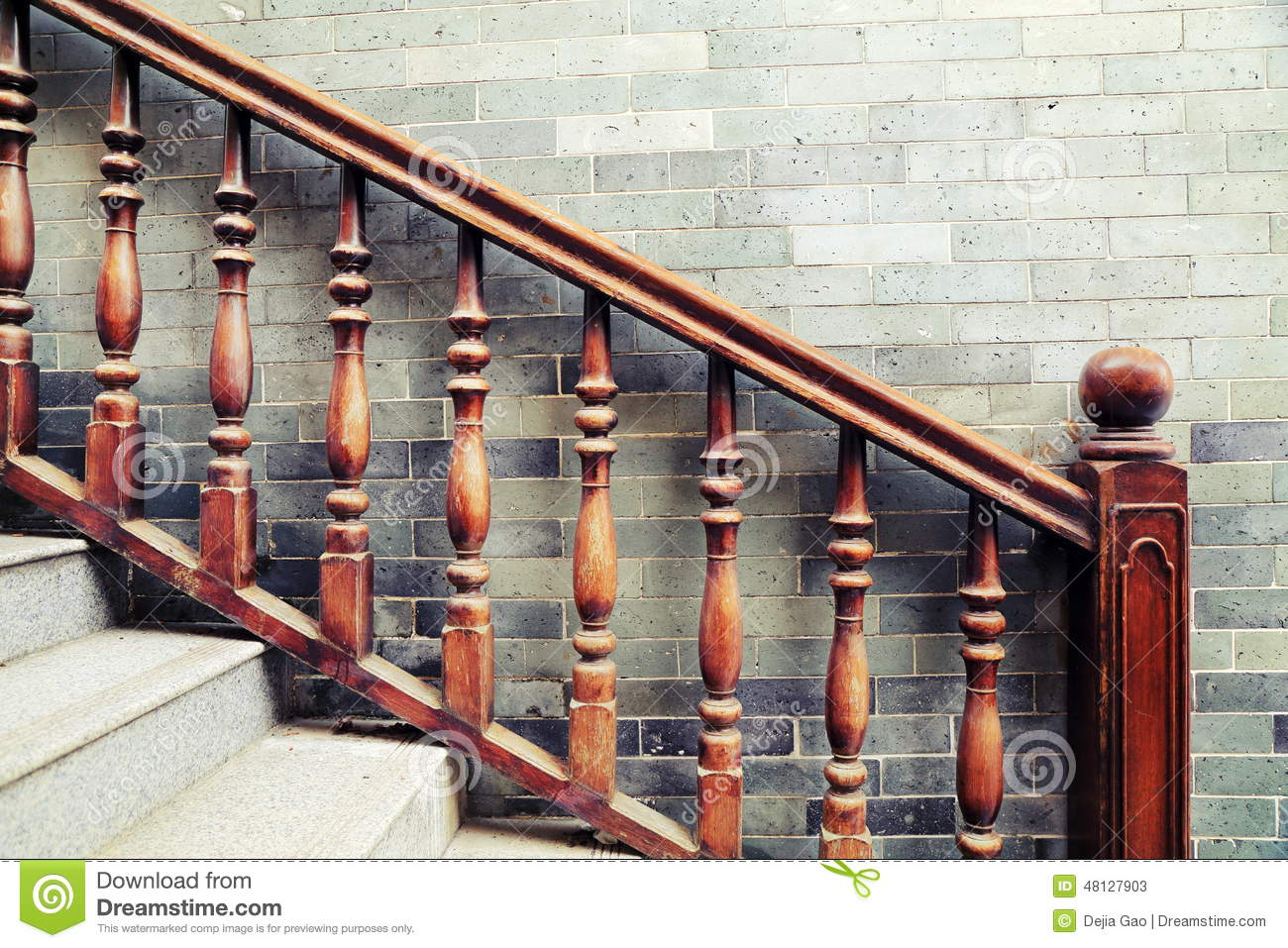 High Quality Royalty Free Stock Photo. Download Handrail Of Staircase ...