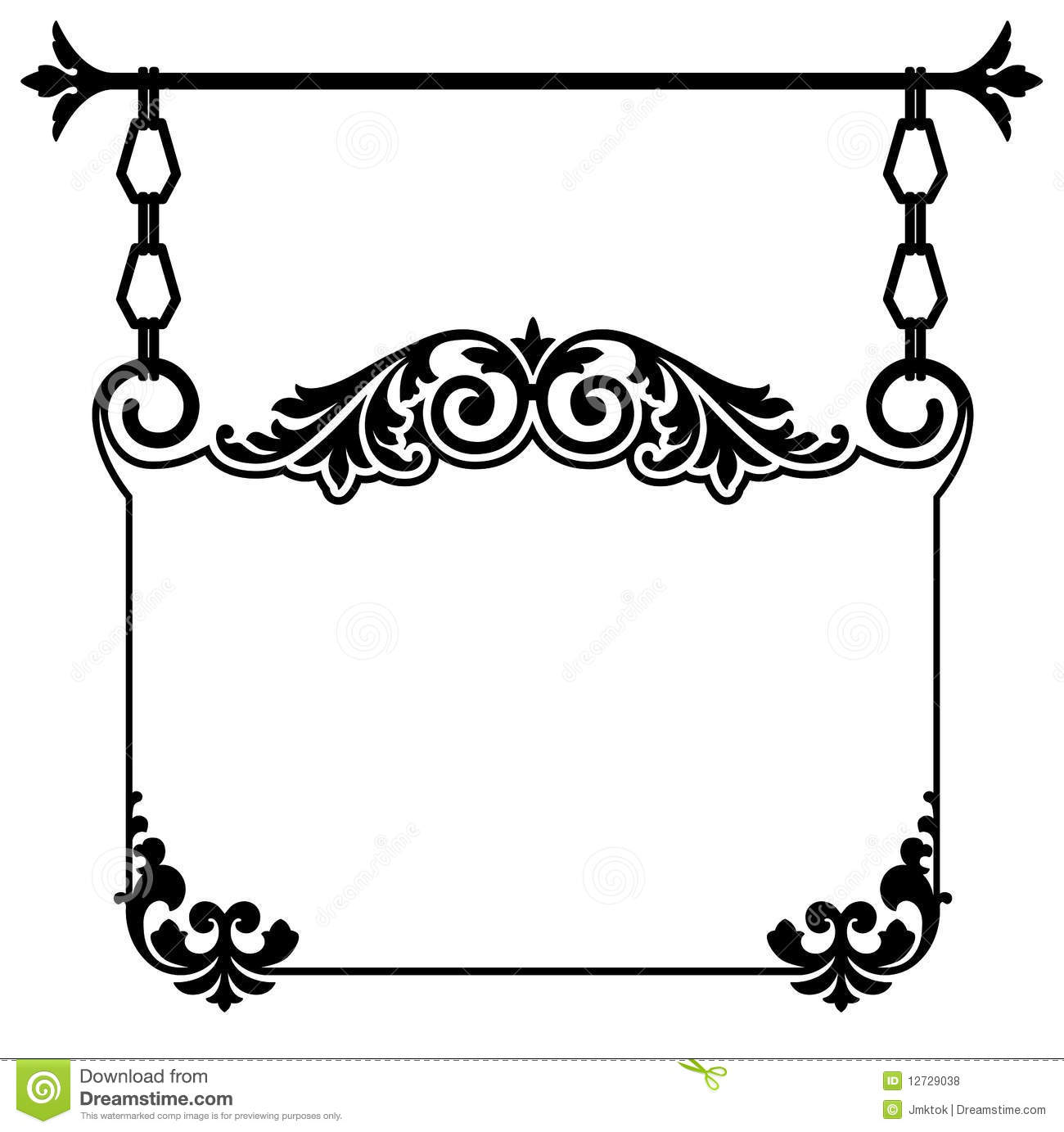Vintage Hanging Sign Stock Vector Image Of Link White