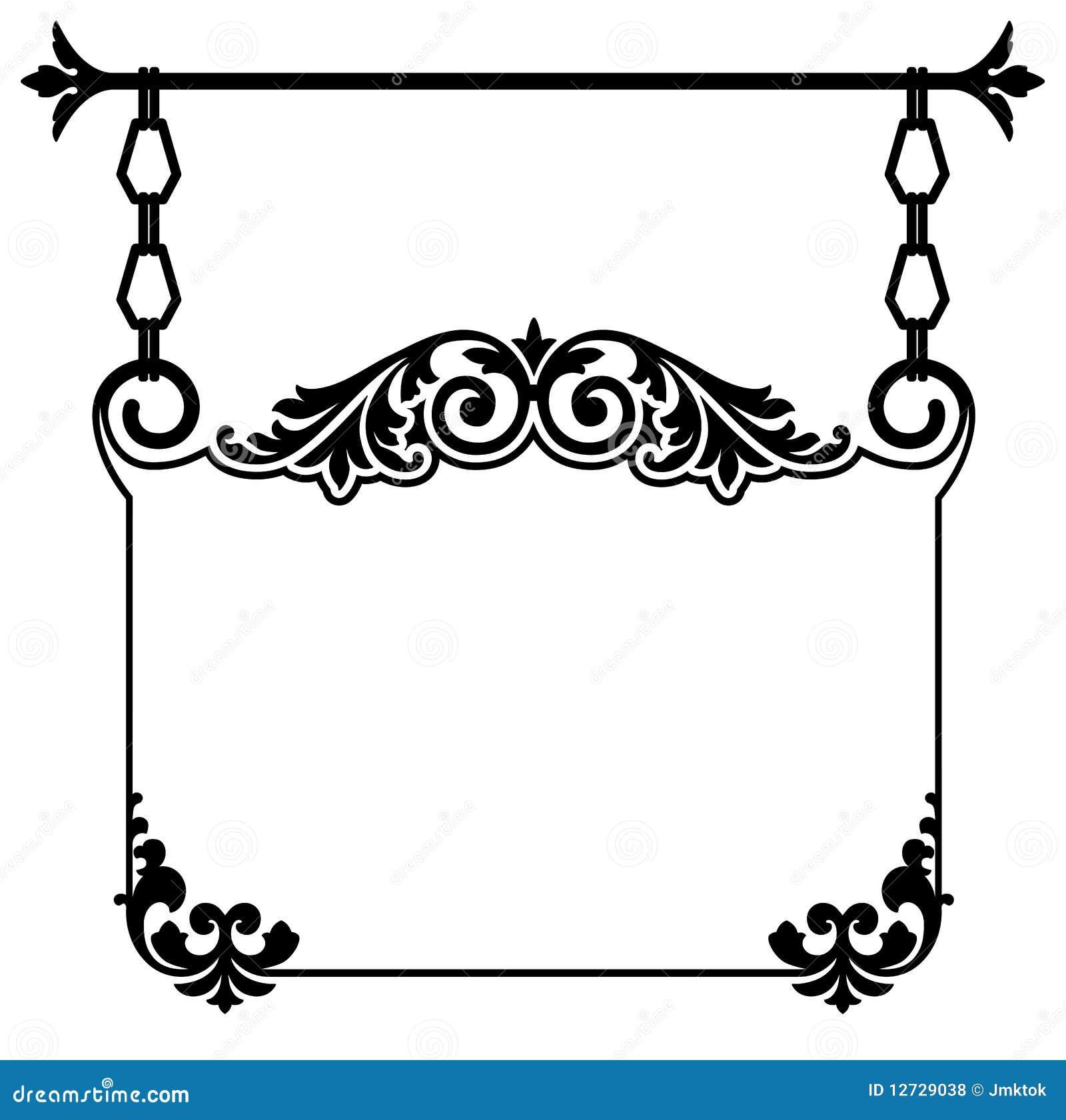Vintage Hanging Sign Royalty Free Stock Photos Image