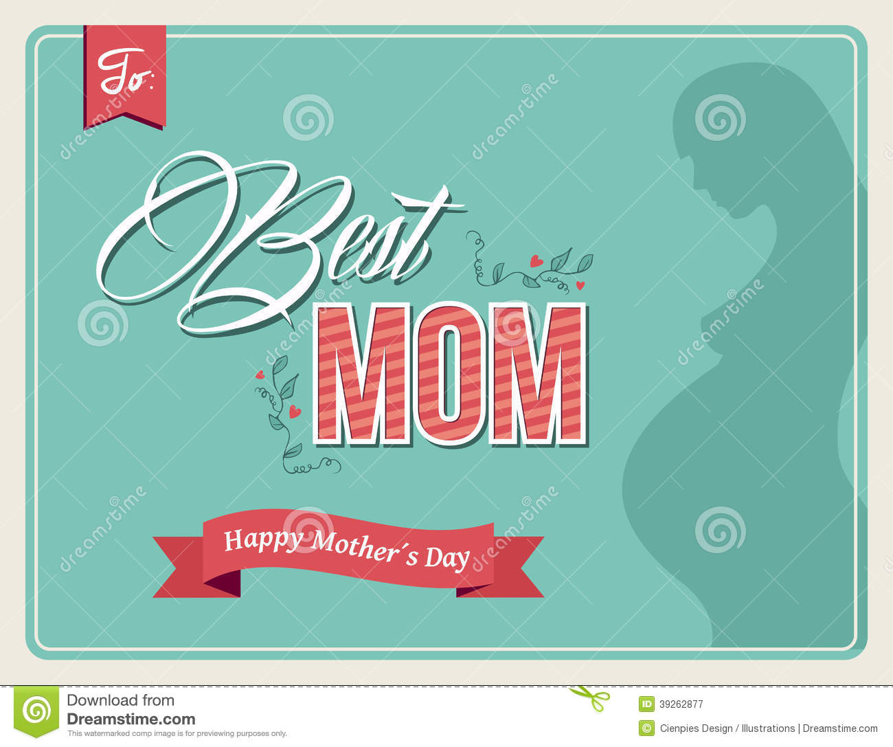Vintage happy mothers day colors greeting card stock vector vintage happy mothers day colors greeting card kristyandbryce Gallery