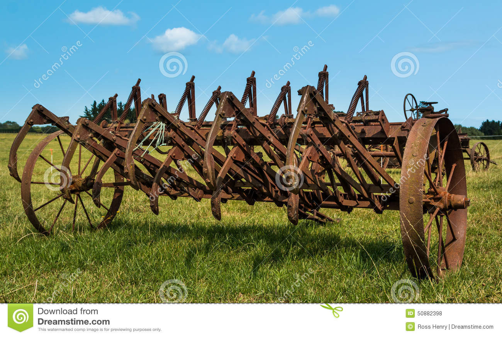 Vintage Harrow Stock Photo Image Of Soil Land Machinery