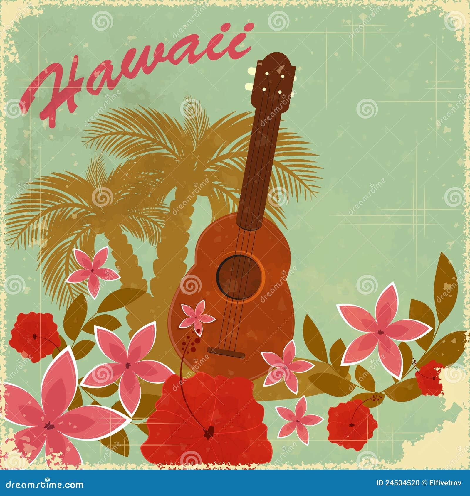 Vintage Hawaiian Postcard Stock Photo Image 24504520