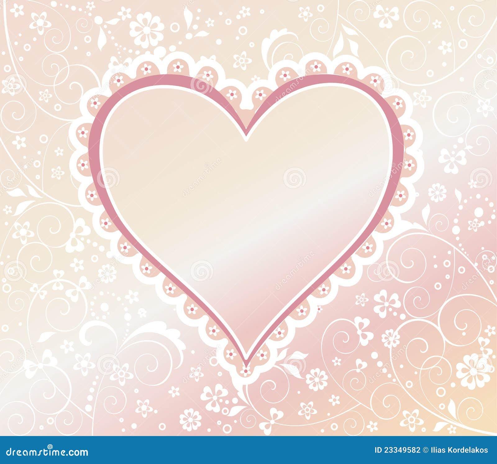 Vintage Heart Background Vintage heart b...