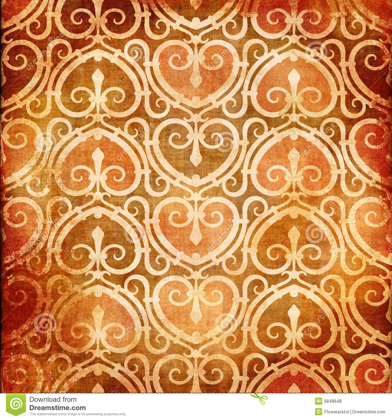 Vintage Heart Pattern Royalty Free Stock Photos - Image ...
