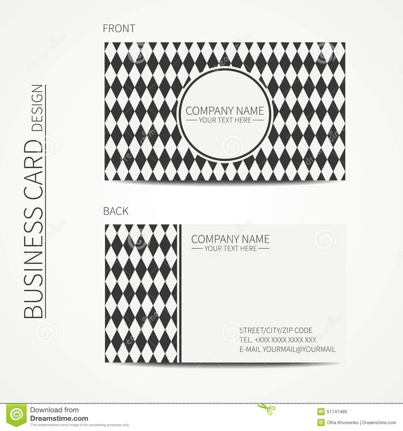 Line Card Examples: Vintage Hipster Simple Monochrome Business Card Stock