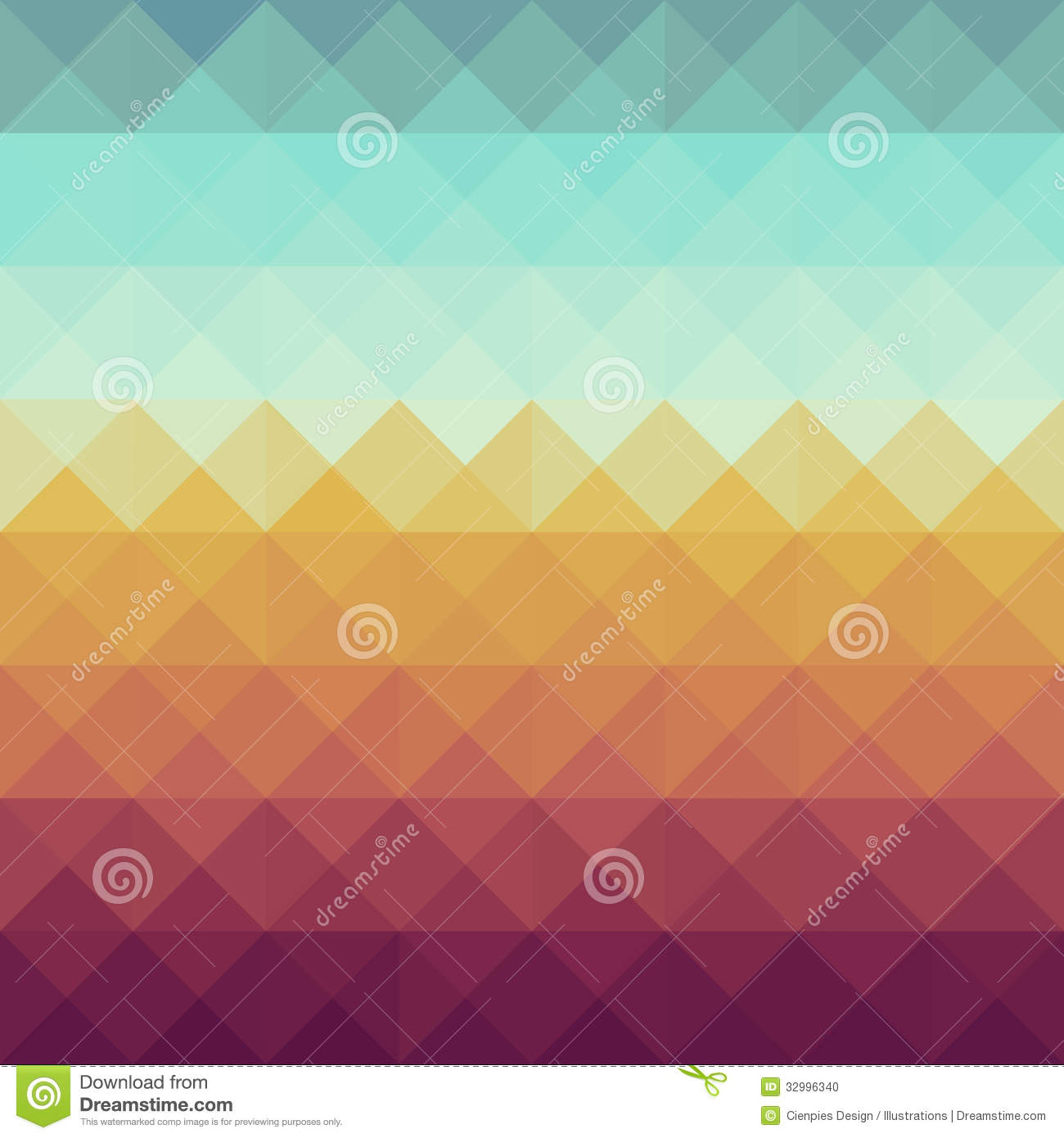 Vintage Hipsters Geometric Pattern. Stock Photo - Image ...