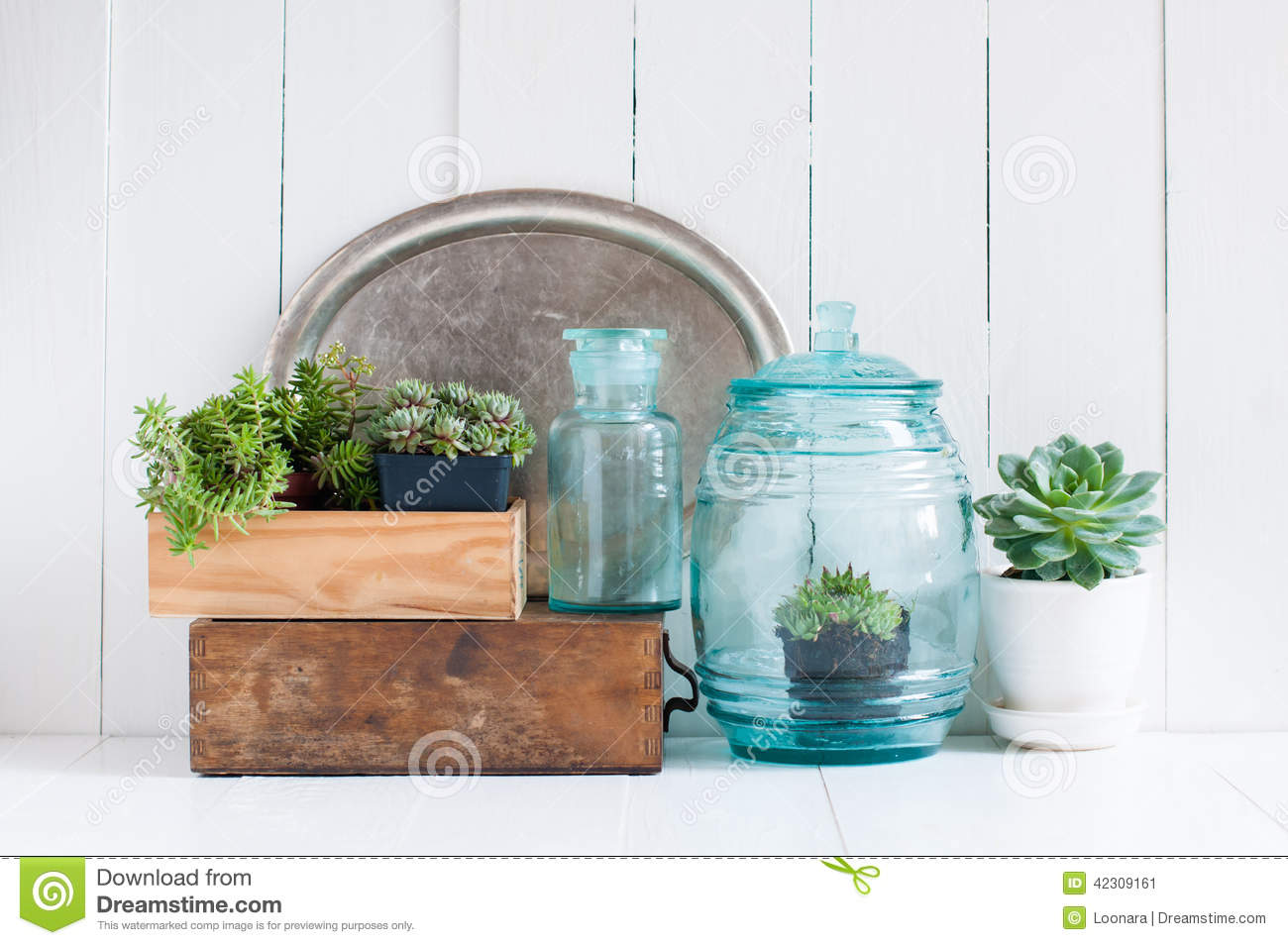 Vintage home decor stock photo image 42309161 for Glass home decor