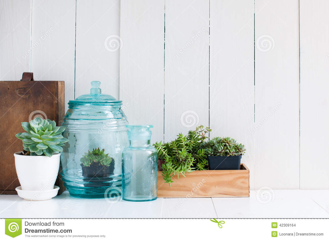 Vintage Home Decor Stock Photo Image Of Blue Background 42309164