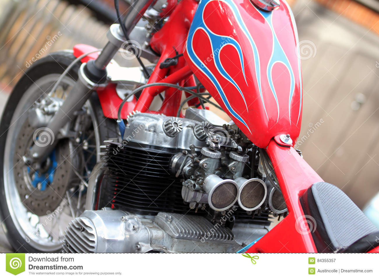 Vintage Honda Cb750 Four Chopper Motorcycle Stock Image Image