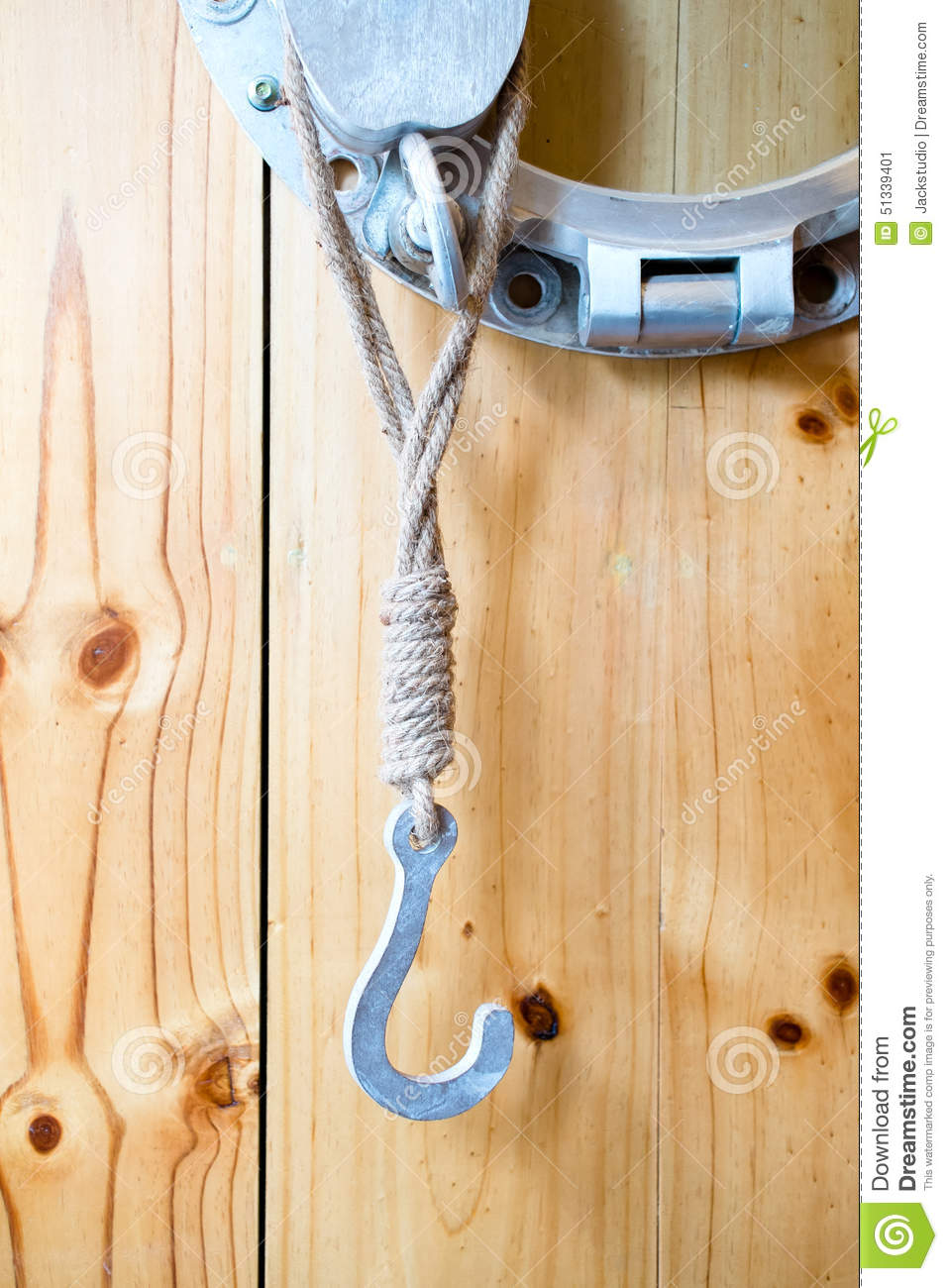 Vintage Hook Hanging On Wooden Panel Wall Stock Image - Image of ...