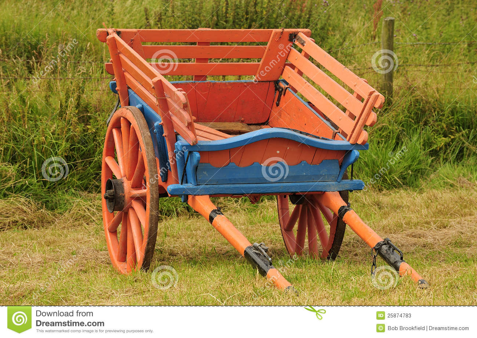 Vintage Horse Drawn Farm Cart Stock Photos Image 25874783