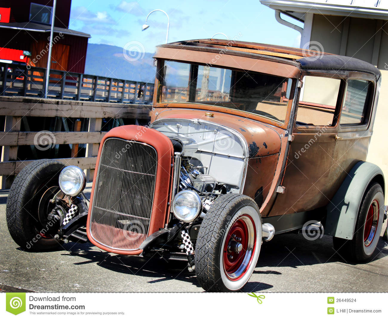 Vintage Hot Rod stock photo. Image of model, manufacturing - 26449524