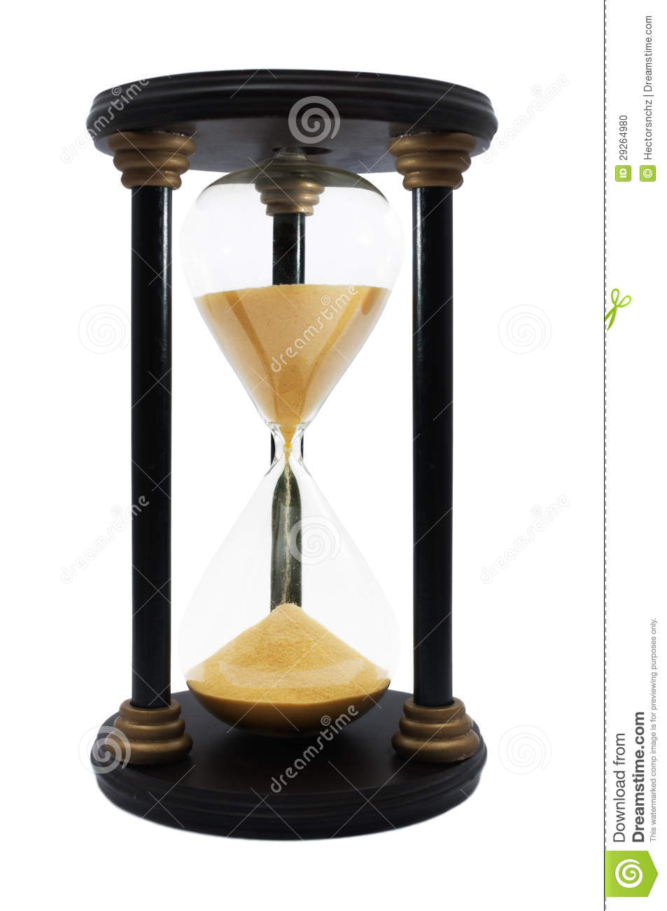 Vintage Hourglass Stock Photo Image 29264980