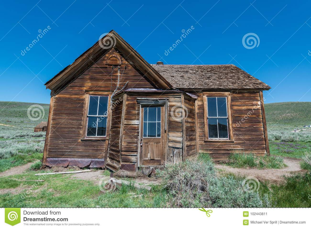 Old Home At Bodie Ghost Town Stock Image - Image of generator, house