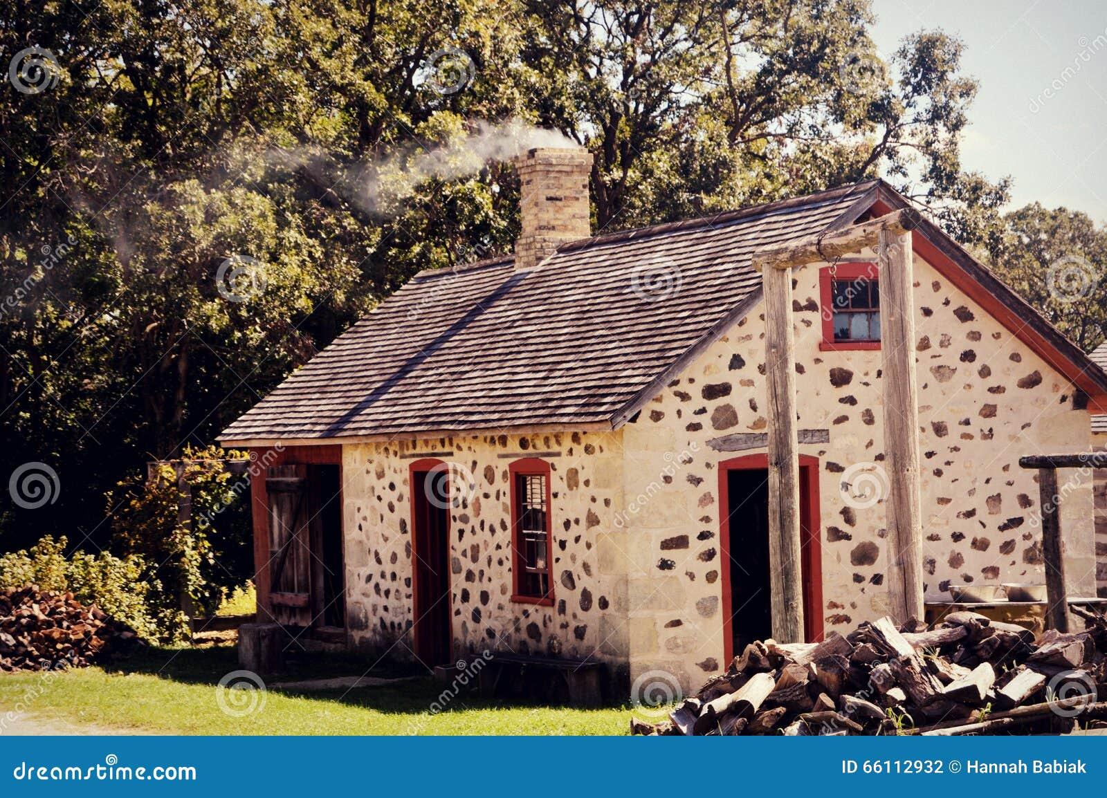 Vintage House Chimney Smoke Stock Photo Image 66112932
