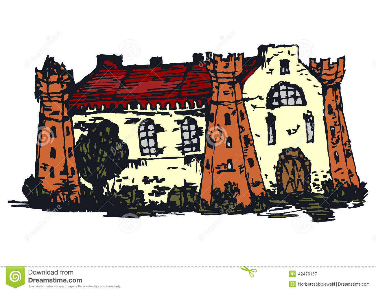 Vintage House. Stock Vector - Image: 42476167