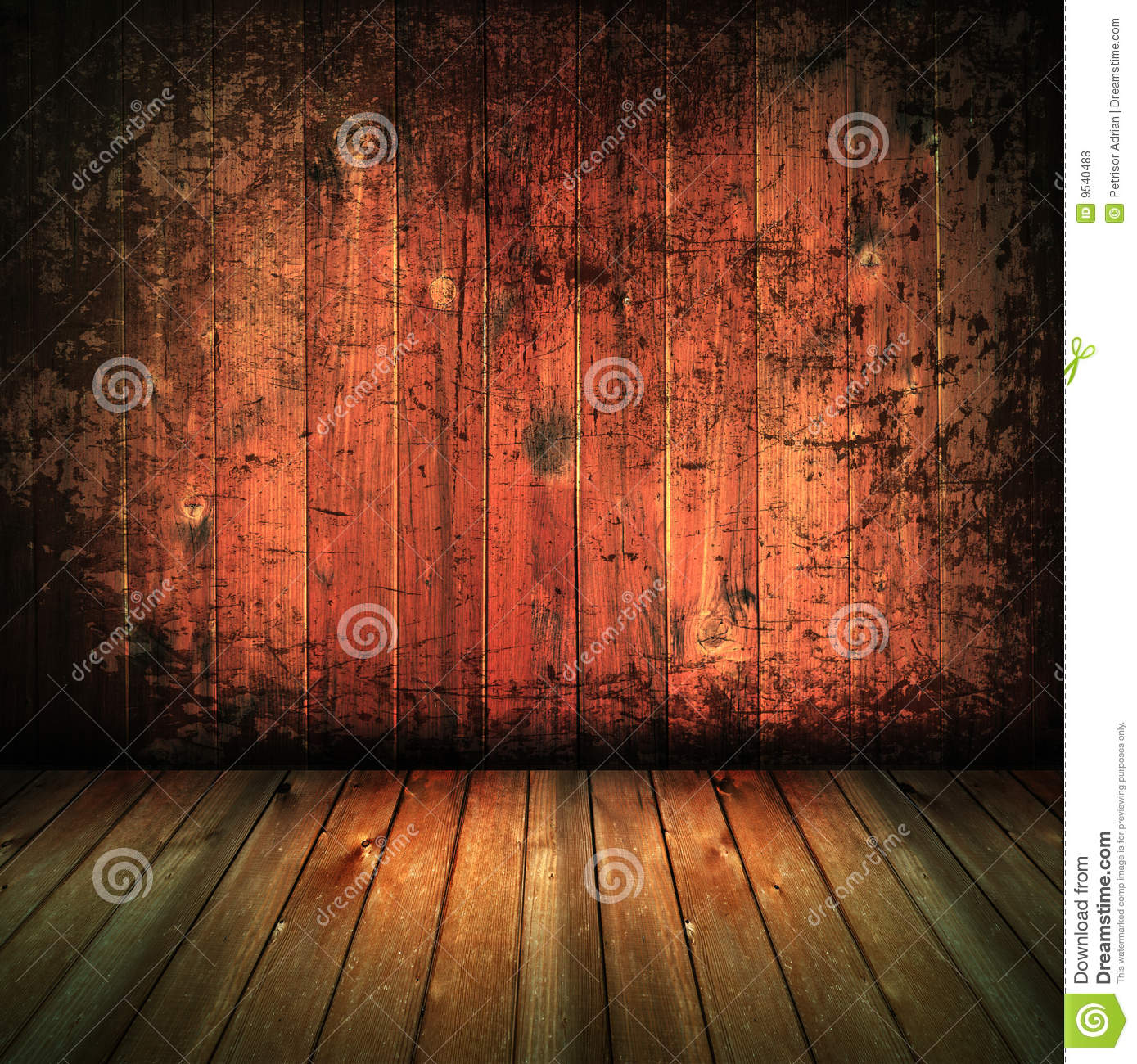 Vintage House Interior Wood Texture Background Stock Photo
