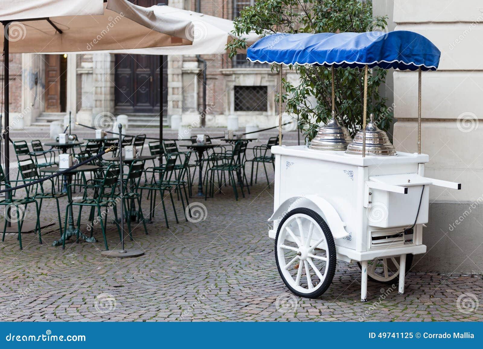 Vintage Ice Cream Cart Stock Photo - Image: 49741125 Vintage Ice Cream ...
