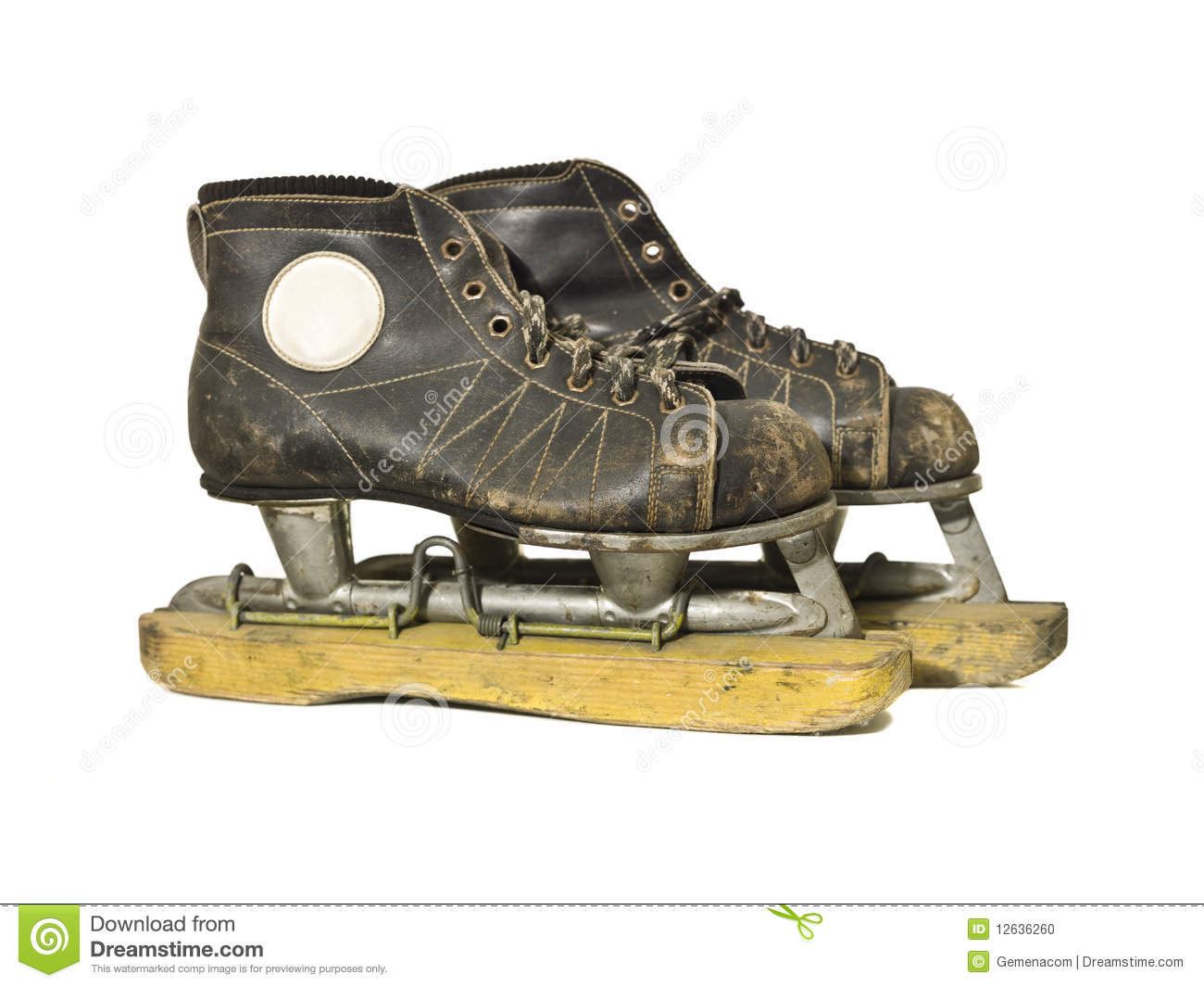 Vintage Ice Skates Stock Photo Image