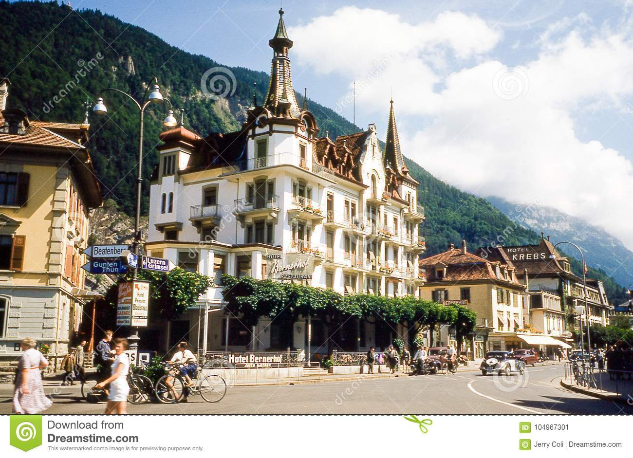 hotel bernerhofer interlaken switzerland editorial photo image of