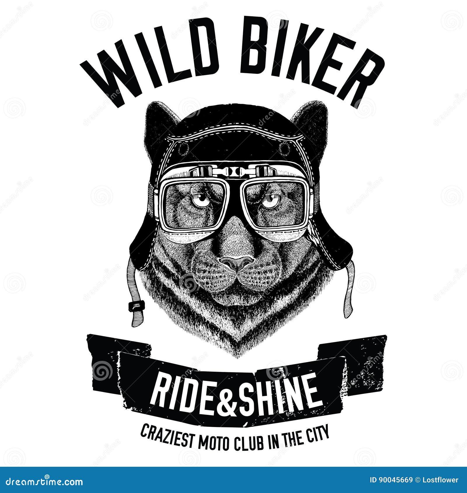 Vintage Images Of Dog For T Shirt Design For Motorcycle Bike