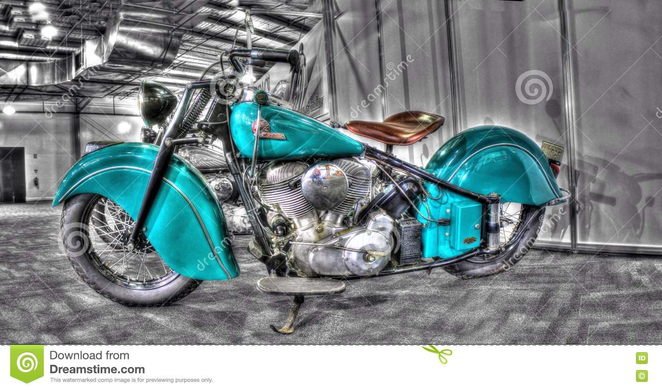 Vintage Indian Motorcycle Editorial Photography Image Of