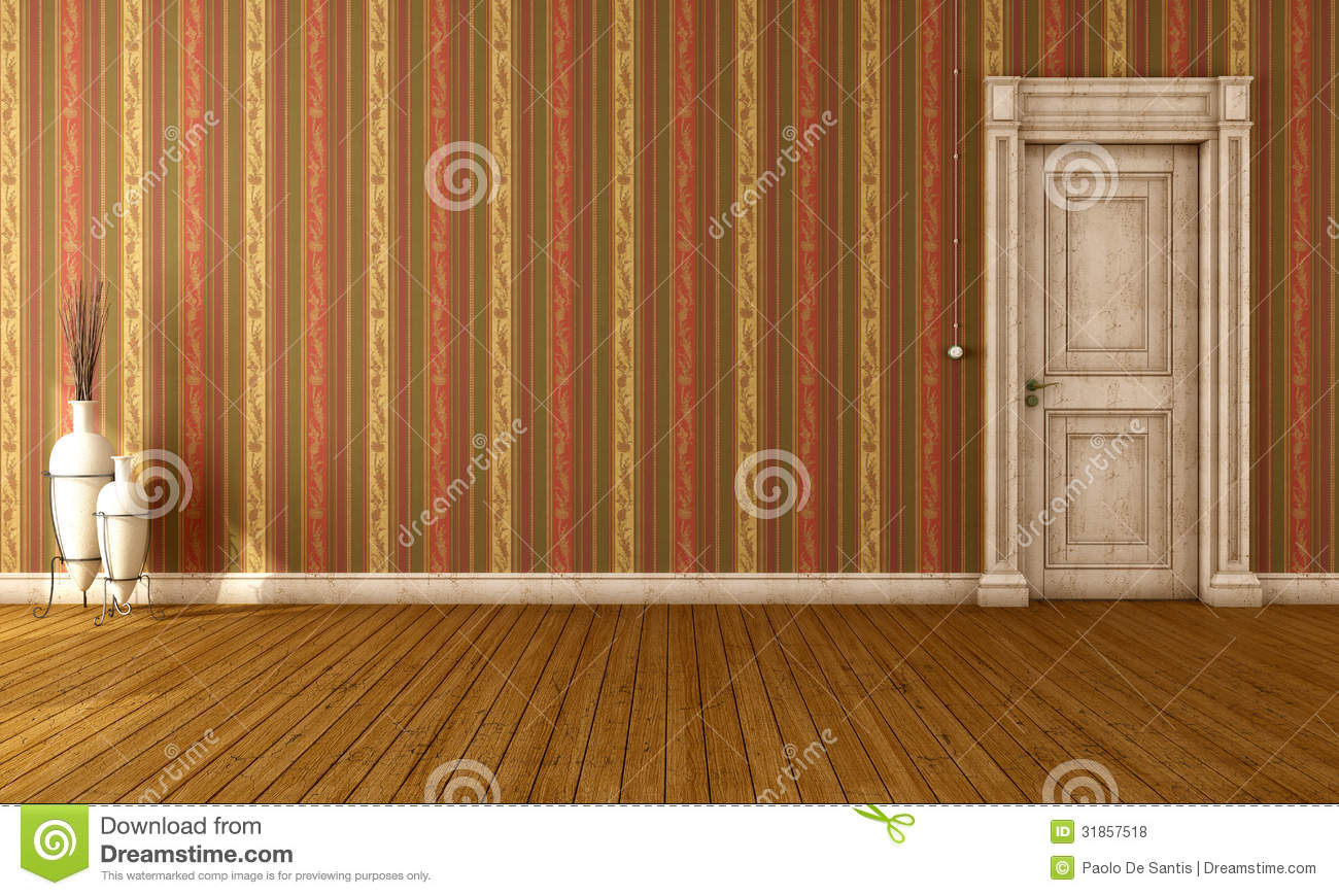 Vintage Interior With Old Door Royalty Free Stock Photos - Image ...