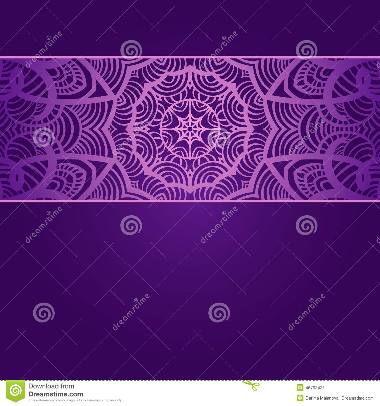 Vintage Invitation Card On Purple Background With Stock