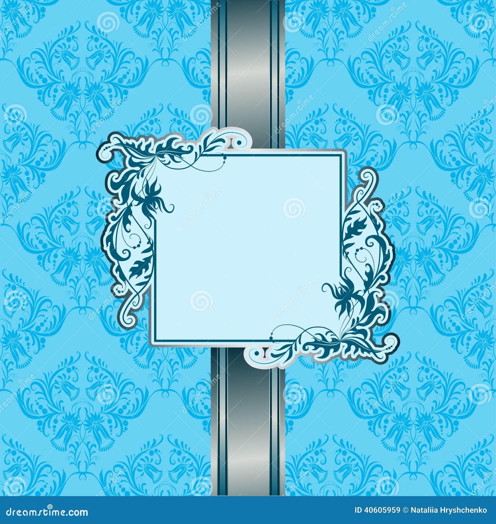 Blue Background Invitation Googlesack