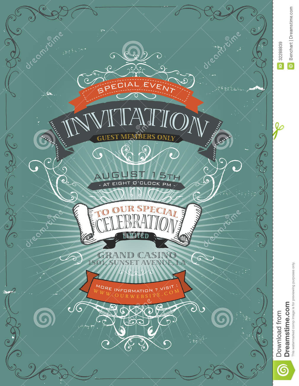 Vintage invitation poster background stock vector illustration of vintage invitation poster background stopboris Gallery
