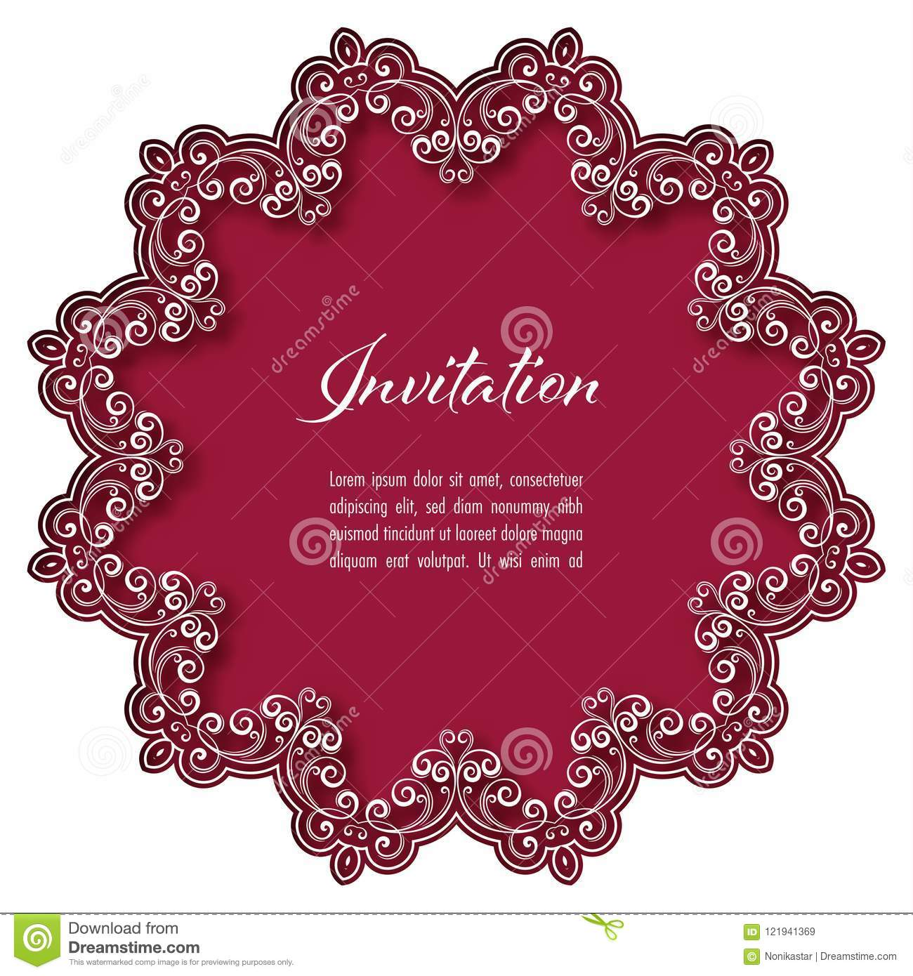 Vintage Invitation Template Stock Vector - Illustration of ...