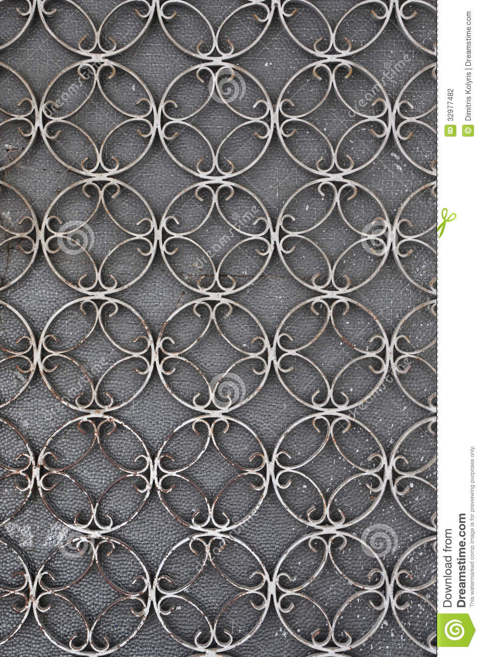 Vintage Iron Door With Circles Pattern Stock Photography