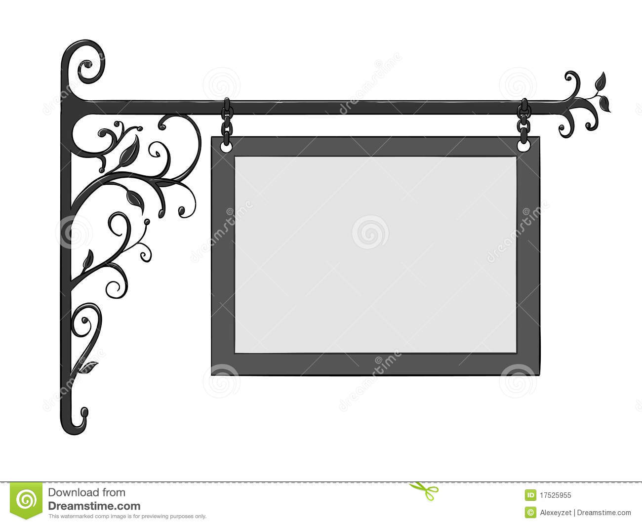 Vintage Iron Sign Stock Vector Image Of Cartoon Isolated